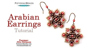 How to Bead / Free Video Tutorials / Earring Projects / Arabian Earrings Tutorial