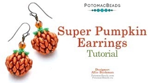 How to Bead / Videos Sorted by Beads / SuperDuo & MiniDuo Videos / Super Pumpkin Earrings Tutorial