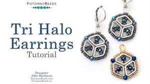 How to Bead Jewelry / Videos Sorted by Beads / Potomax Metal Bead Videos / Tri Halo Earrings Tutorial