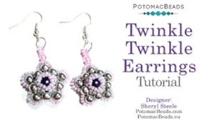 How to Bead Jewelry / Videos Sorted by Beads / RounDuo® & RounDuo® Mini Bead Videos / Twinkle Twinkle Earrings Tutorial