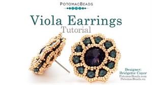 How to Bead / Videos Sorted by Beads / Gemstone Videos / Viola Earrings Tutorial