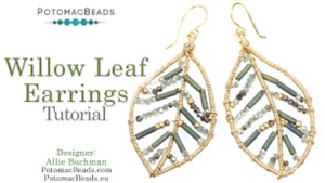How to Bead / Videos Sorted by Beads / Gemstone Videos / Willow Leaf Earrings Tutorial