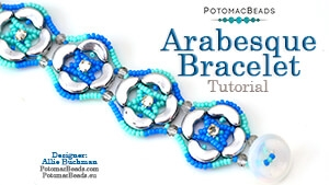 How to Bead Jewelry / Beading Tutorials & Jewel Making Videos / Bracelet Projects / Arabesque Bracelet Tutorial