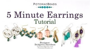 How to Bead / Videos Sorted by Beads / Potomac Crystal Videos / 5 Minute Earrings Tutorial