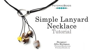 How to Bead Jewelry / Videos Sorted by Beads / Gemstone Videos / Boho Chic Simple Lanyard Necklace Tutorial