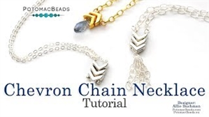 How to Bead Jewelry / Videos Sorted by Beads / Potomax Metal Bead Videos / Chevron Chain Necklace