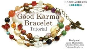 How to Bead Jewelry / Videos Sorted by Beads / Gemstone Videos / Good Karma Bracelet Tutorial