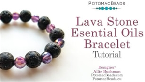 How to Bead / Videos Sorted by Beads / Potomac Crystal Videos / Lava Stone Essential Oils Bracelet Tutorial
