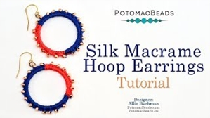How to Bead Jewelry / Videos Sorted by Beads / Seed Bead Only Videos / Silk Macrame Hoop Earrings Tutorial