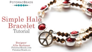 How to Bead Jewelry / Videos Sorted by Beads / Potomax Metal Bead Videos / Simple Halo Project