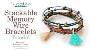 How to Bead / Videos Sorted by Beads / Seed Bead Only Videos / Stackable Memory Wire Bracelets