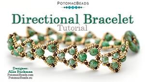 How to Bead Jewelry / Beading Tutorials & Jewel Making Videos / Bracelet Projects / Directional Bracelet Tutorial