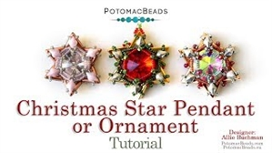 How to Bead Jewelry / Videos Sorted by Beads / Diamond Shaped Bead Videos / Christmas Star Ornament Tutorial