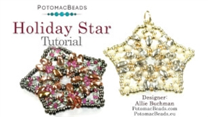 How to Bead / Videos Sorted by Beads / SuperDuo & MiniDuo Videos / Holiday Star Beadweaving Tutorial