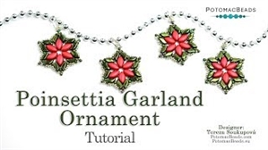 How to Bead Jewelry / Videos Sorted by Beads / IrisDuo® Bead Videos / Poinsettia Garland Ornament Tutorial
