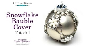 How to Bead Jewelry / Videos Sorted by Beads / IrisDuo® Bead Videos / Snowflake Bauble Ornament Cover Tutorial