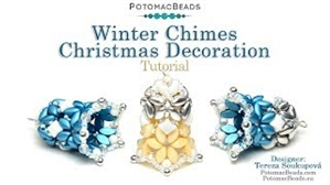 How to Bead / Videos Sorted by Beads / WibeDuo Bead Videos / Winter Chimes Christmas Decoration Tutorial