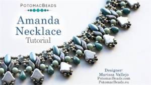 How to Bead Jewelry / Videos Sorted by Beads / Potomac Crystal Videos / Amanda Necklace Beadweaving Tutorial