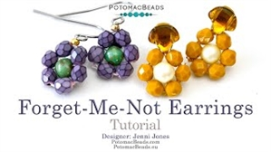 How to Bead Jewelry / Beading Tutorials & Jewel Making Videos / Earring Projects / Forget Me Not Earrings Tutorial