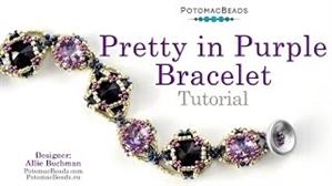 How to Bead Jewelry / Beading Tutorials & Jewel Making Videos / Bracelet Projects / Pretty in Purple Bracelet Tutorial