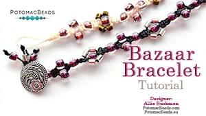 How to Bead Jewelry / Beading Tutorials & Jewel Making Videos / Stringing & Knotting Projects / Bazaar Bracelet Tutorial