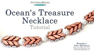 How to Bead / Videos Sorted by Beads / StormDuo Bead Videos / Ocean's Treasure Necklace Tutorial