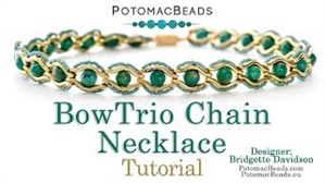 How to Bead / Videos Sorted by Beads / Gemstone Videos / BowTrio Chain Necklace Tutorial