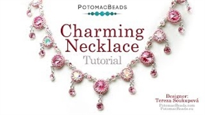 How to Bead Jewelry / Videos Sorted by Beads / Potomac Crystal Videos / Charming Necklace Tutorial