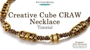 How to Bead Jewelry / Videos Sorted by Beads / Potomac Crystal Videos / Creative CRAW Cube Necklace Tutorial