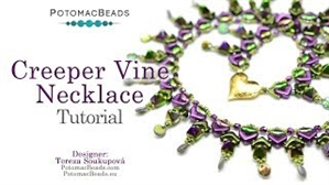 How to Bead Jewelry / Videos Sorted by Beads / CzechMates Bead Videos / Creeper Vine Necklace Tutorial