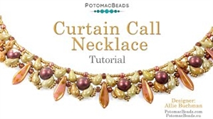 How to Bead Jewelry / Videos Sorted by Beads / ZoliDuo and Paisley Duo Bead Videos / Curtain Call Necklace Tutorial