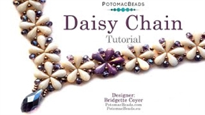 How to Bead Jewelry / Videos Sorted by Beads / Potomac Crystal Videos / Daisy Chain Necklace Tutorial