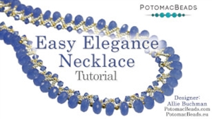 How to Bead Jewelry / Videos Sorted by Beads / Gemstone Videos / Easy Elegance Necklace Tutorial