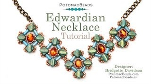 How to Bead Jewelry / Videos Sorted by Beads / Potomax Metal Bead Videos / Edwardian Necklace Tutorial