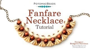 How to Bead Jewelry / Videos Sorted by Beads / WibeDuo Bead Videos / Fanfare Necklace Tutorial