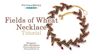 How to Bead Jewelry / Videos Sorted by Beads / Potomac Crystal Videos / Fields of Wheat Necklace Tutorial