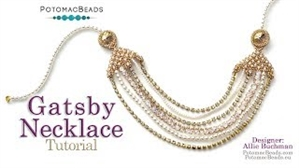 How to Bead Jewelry / Videos Sorted by Beads / Potomac Crystal Videos / Gatsby Necklace Tutorial