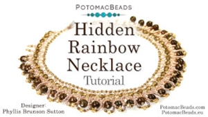 How to Bead Jewelry / Videos Sorted by Beads / Potomac Crystal Videos / Hidden Rainbow Necklace Tutorial