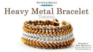 How to Bead / Free Video Tutorials / Bracelet Projects / Heavy Metal Bracelet Tutorial