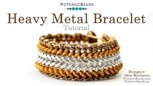 How to Bead Jewelry / Beading Tutorials & Jewel Making Videos / Bracelet Projects / Heavy Metal Bracelet Tutorial