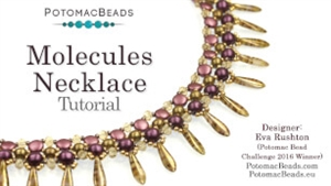 How to Bead / Videos Sorted by Beads / RounDuo® & RounDuo® Mini Bead Videos / Molecules Necklace Tutorial