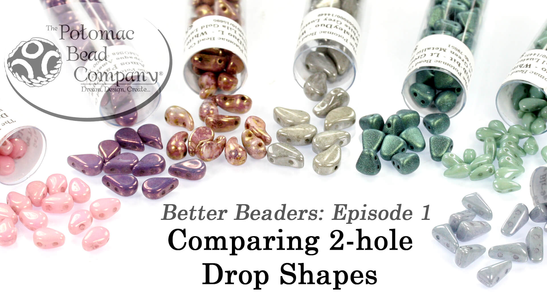 How to Bead / Better Beader Episodes / Better Beader Episode 001 - Comparing 2-Hole Drop Bead Shapes