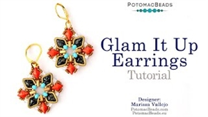 How to Bead / Videos Sorted by Beads / Diamond Shaped Bead Videos / Glam It Up Earrings Tutorial