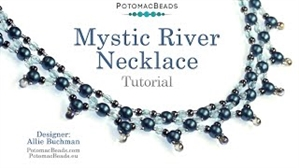 How to Bead / Videos Sorted by Beads / RounDuo® & RounDuo® Mini Bead Videos / Mystic River Necklace Tutorial