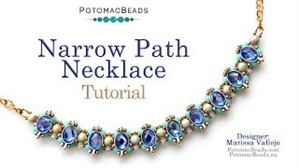How to Bead Jewelry / Videos Sorted by Beads / Potomax Metal Bead Videos / Narrow Path Choker Tutorial