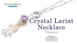 How to Bead Jewelry / Beading Tutorials & Jewel Making Videos / Bead Weaving Tutorials & Necklace Tutorial / Crystal Lariat Necklace Tutorial