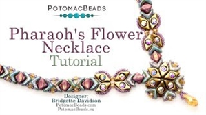 How to Bead Jewelry / Videos Sorted by Beads / Silky and Mini Silky Bead Videos / Pharaoh's Flower Necklace Tutorial