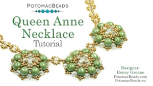 How to Bead Jewelry / Videos Sorted by Beads / RounTrio® & RounTrio® Faceted Bead Videos / Queen Anne Necklace Tutorial