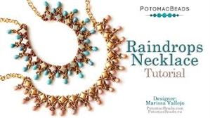 How to Bead Jewelry / Videos Sorted by Beads / WibeDuo Bead Videos / Raindrops Necklace Tutorial