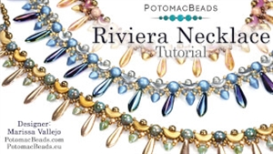 How to Bead Jewelry / Videos Sorted by Beads / RounTrio® & RounTrio® Faceted Bead Videos / Riviera Necklace Tutorial